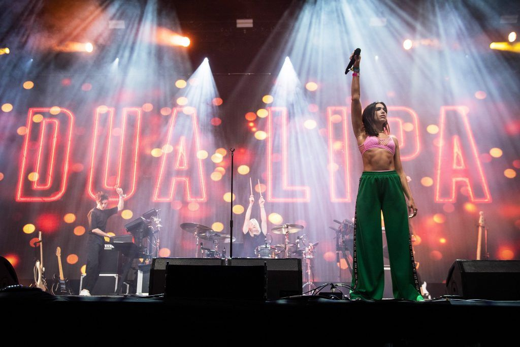 Dua Lipa performs on the John Peel Stage on day 2 of the Glastonbury Festival 2017 at Worthy Farm, Pilton on June 23, 2017 in Glastonbury, England.  (Photo by Ian Gavan/Getty Images)