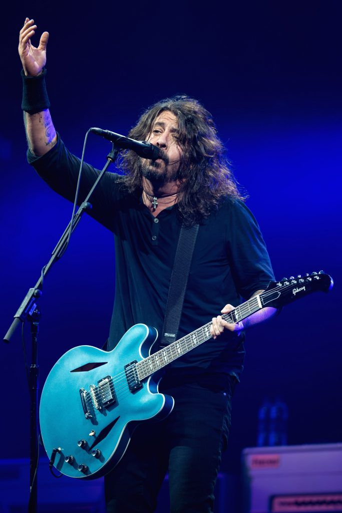 Dave Grohl of Foo Fighters performs on day 3 of the Glastonbury Festival 2017 at Worthy Farm, Pilton on June 24, 2017 in Glastonbury, England.  (Photo by Ian Gavan/Getty Images)
