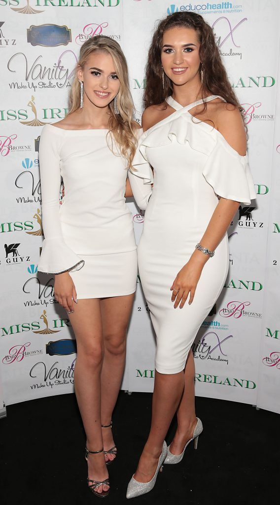 Rachel Pugh and Lauren McDonagh at the Miss Ireland 2017 launch in association with Vanity X Make-Up Academy at Krystle Nightclub, Dublin. Photo by Brian McEvoy