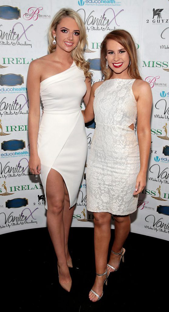 Kayleigh Hanlon and Tara O Leary at the Miss Ireland 2017 launch in association with Vanity X Make-Up Academy at Krystle Nightclub, Dublin. Photo by Brian McEvoy
