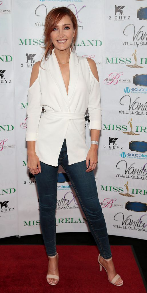 Dearbhla Hogan at the Miss Ireland 2017 launch in association with Vanity X Make-Up Academy at Krystle Nightclub, Dublin. Photo by Brian McEvoy