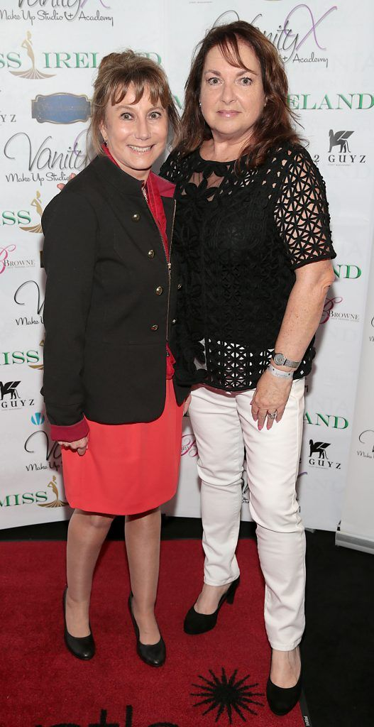 Helen Goldin and Jane McGarry at the Miss Ireland 2017 launch in association with Vanity X Make-Up Academy at Krystle Nightclub, Dublin. Photo by Brian McEvoy