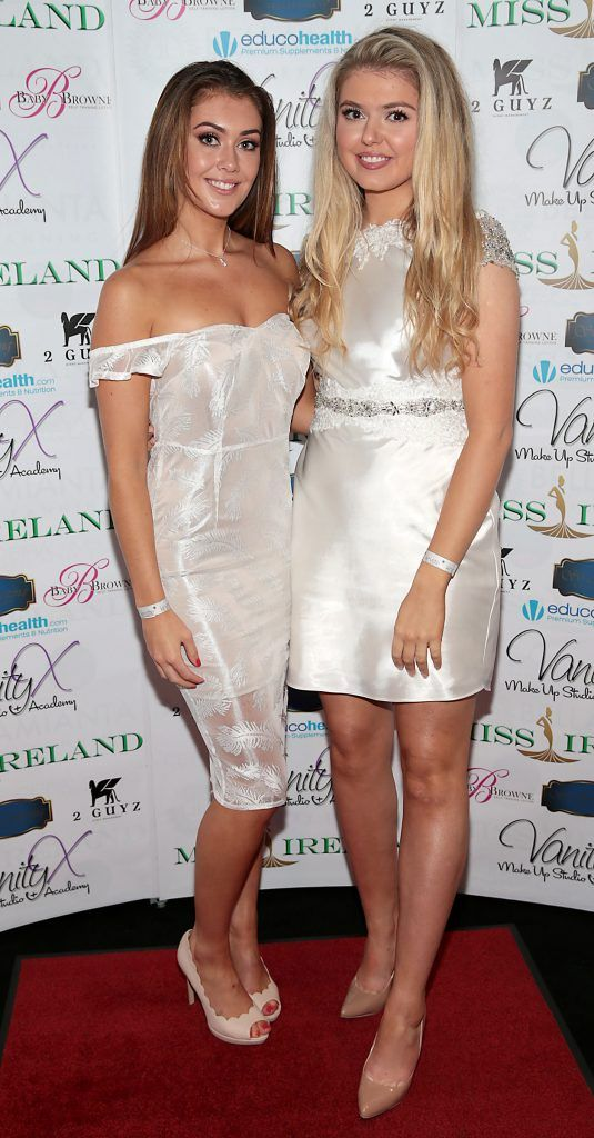 Vanessa Boland and Genevieve Gleeson at the Miss Ireland 2017 launch in association with Vanity X Make-Up Academy at Krystle Nightclub, Dublin. Photo by Brian McEvoy