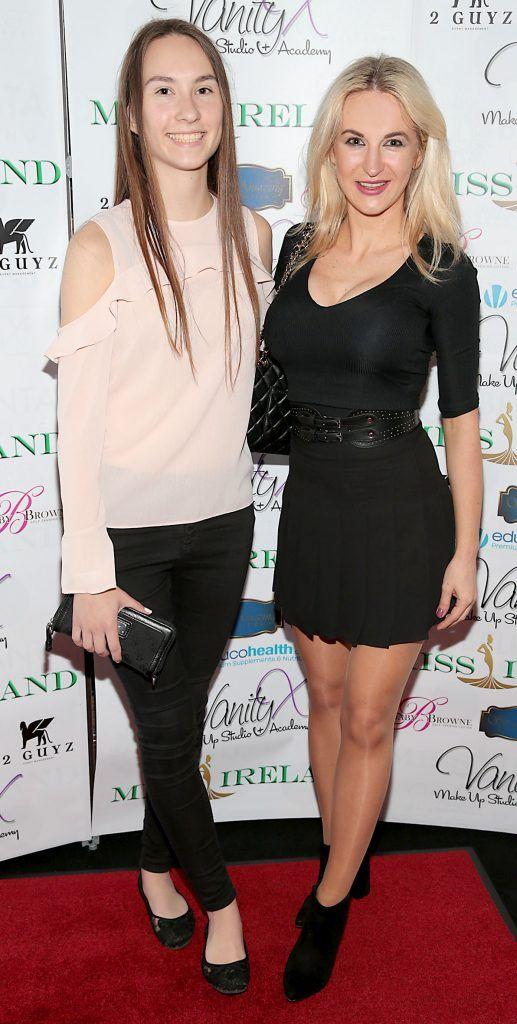 Daniella Kovi and Diana Kovi at the Miss Ireland 2017 launch in association with Vanity X Make-Up Academy at Krystle Nightclub, Dublin. Photo by Brian McEvoy
