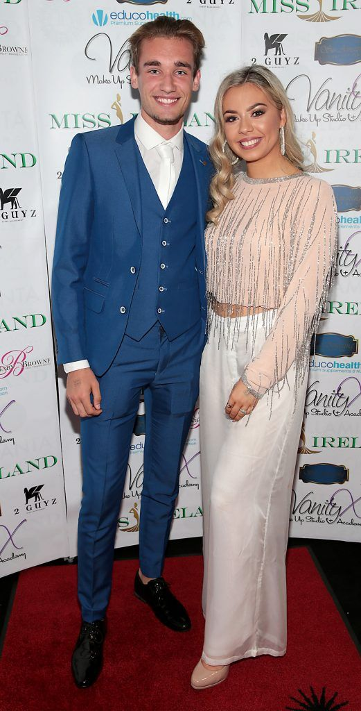 Chad McEneaney and Emma Griffith at the Miss Ireland 2017 launch in association with Vanity X Make-Up Academy at Krystle Nightclub, Dublin. Photo by Brian McEvoy