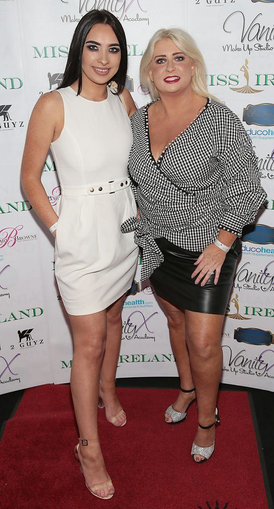 Alannah Hennessy and Sharon Hennessy at the Miss Ireland 2017 launch in association with Vanity X Make-Up Academy at Krystle Nightclub, Dublin. Photo by Brian McEvoy