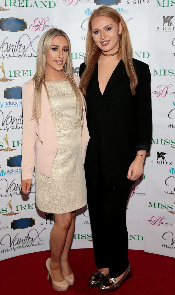 Jamie O Herlihy and Chloe O Herlihy at the Miss Ireland 2017 launch in association with Vanity X Make-Up Academy at Krystle Nightclub, Dublin. Photo by Brian McEvoy