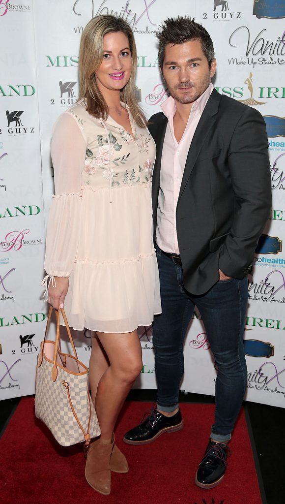 Lisa Cotter and Jason Skerritt at the Miss Ireland 2017 launch in association with Vanity X Make-Up Academy at Krystle Nightclub, Dublin. Photo by Brian McEvoy