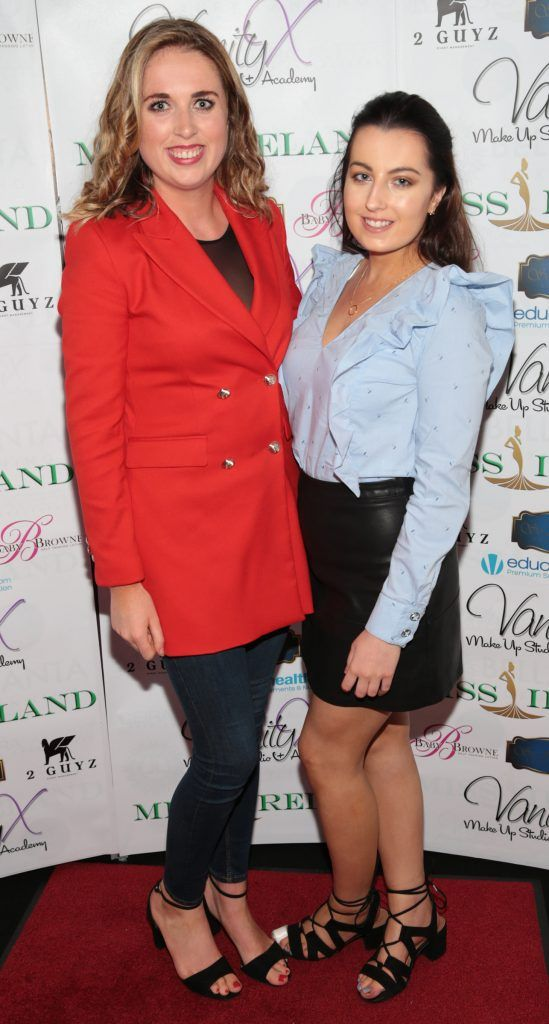 Sarah Whelehan and Sarah O Connor at the Miss Ireland 2017 launch in association with Vanity X Make-Up Academy at Krystle Nightclub, Dublin. Photo by Brian McEvoy