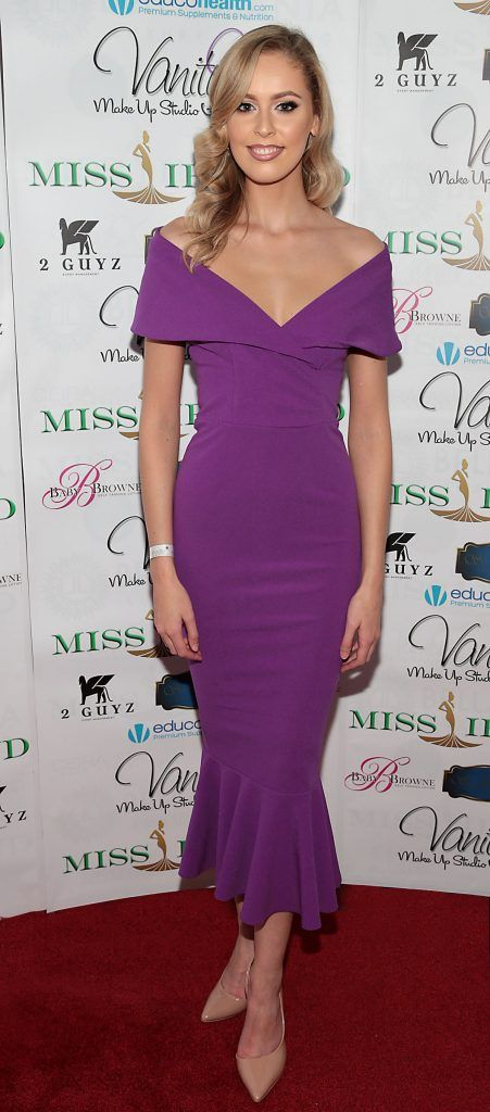 Sasha Livingston at the Miss Ireland 2017 launch in association with Vanity X Make-Up Academy at Krystle Nightclub, Dublin. Photo by Brian McEvoy