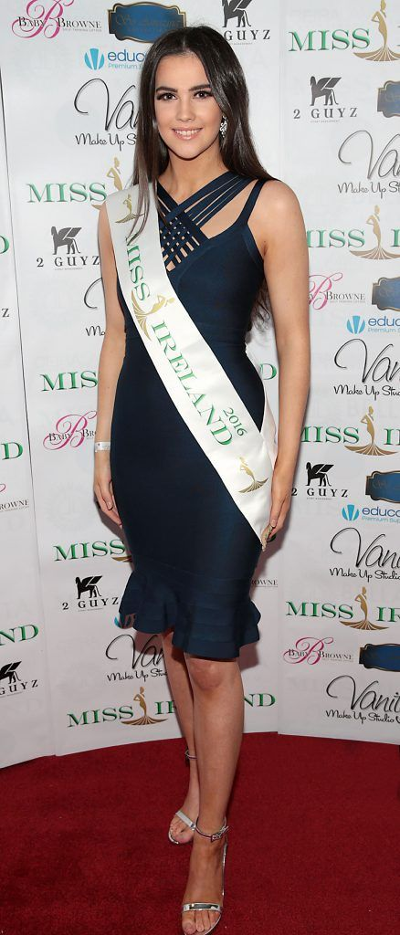 Miss Ireland 2016 Niamh Kennedy at the Miss Ireland 2017 launch in association with Vanity X Make-Up Academy at Krystle Nightclub, Dublin. Photo by Brian McEvoy