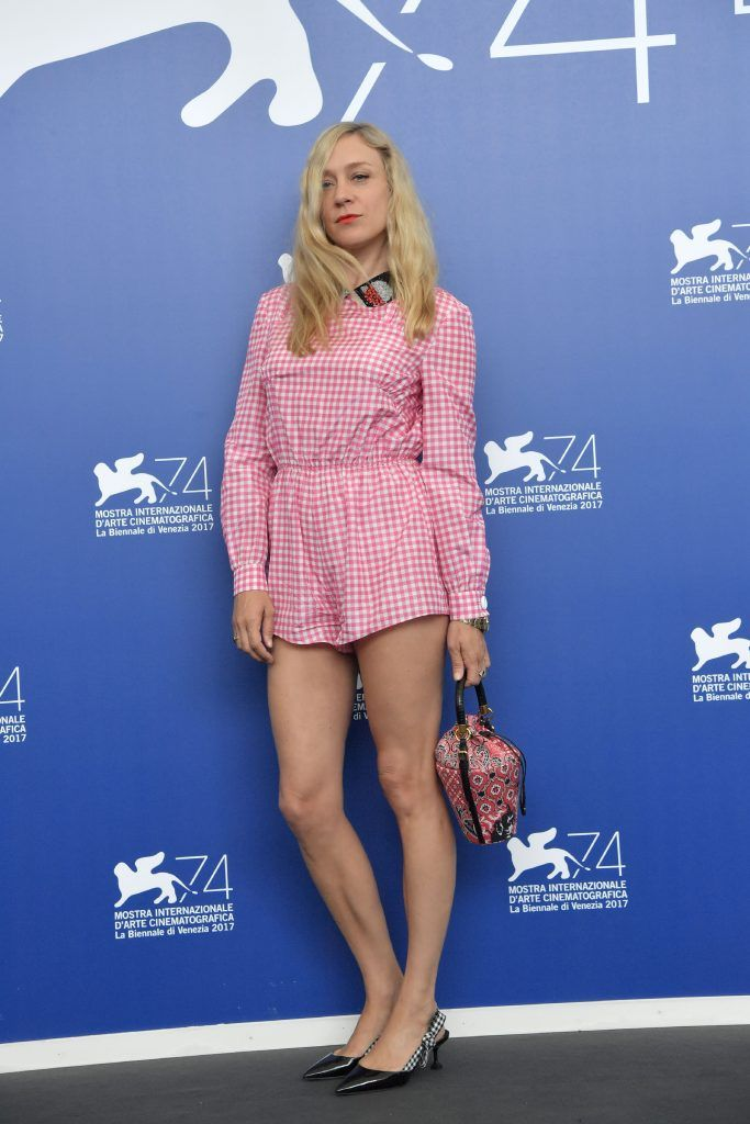 """Actress Chloe Sevigny attends the photocall of the movie """"Lean on Pete"""" presented in competition at the 74th Venice Film Festival on September 1, 2017 at Venice Lido.          (Photo by TIZIANA FABI/AFP/Getty Images)"""