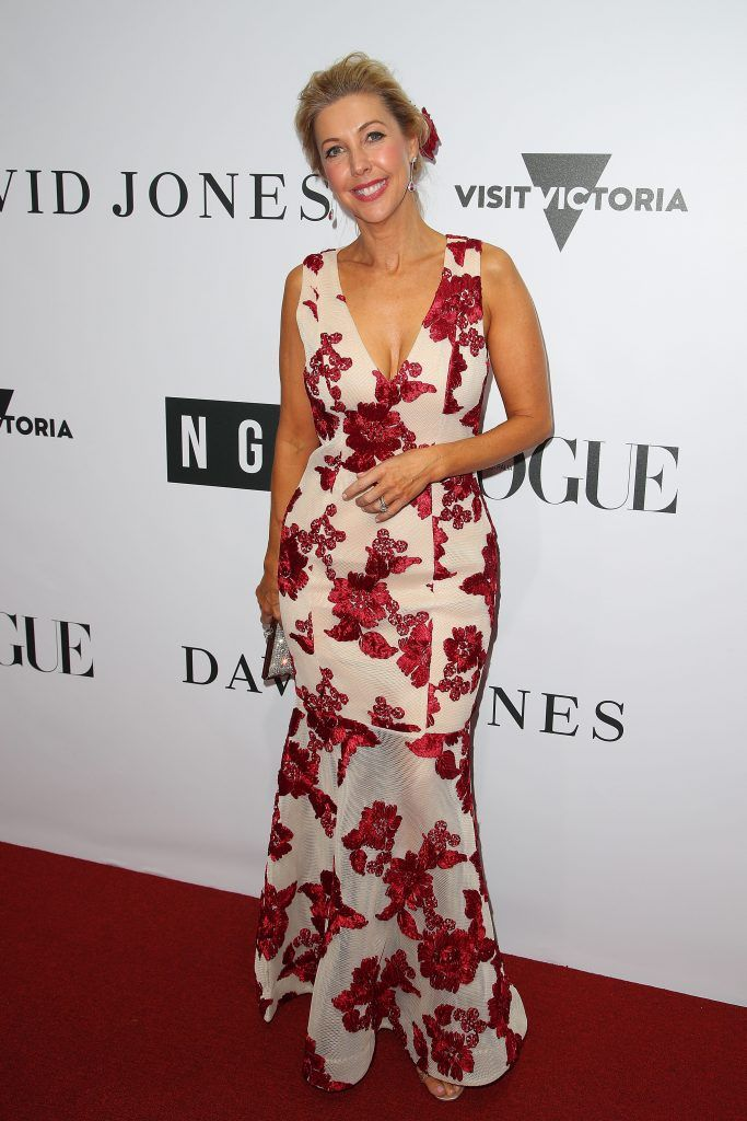 Catriona Rowntree arrives ahead of the NGV Gala at NGV International on August 26, 2017 in Melbourne, Australia.  (Photo by Graham Denholm/Getty Images)
