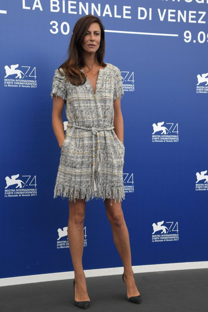 French actress Anna Mouglalis attends a photocall of the jury of the 74th Venice Film Festival on August 30, 2017 at Venice Lido.   (Photo by TIZIANA FABI/AFP/Getty Images)