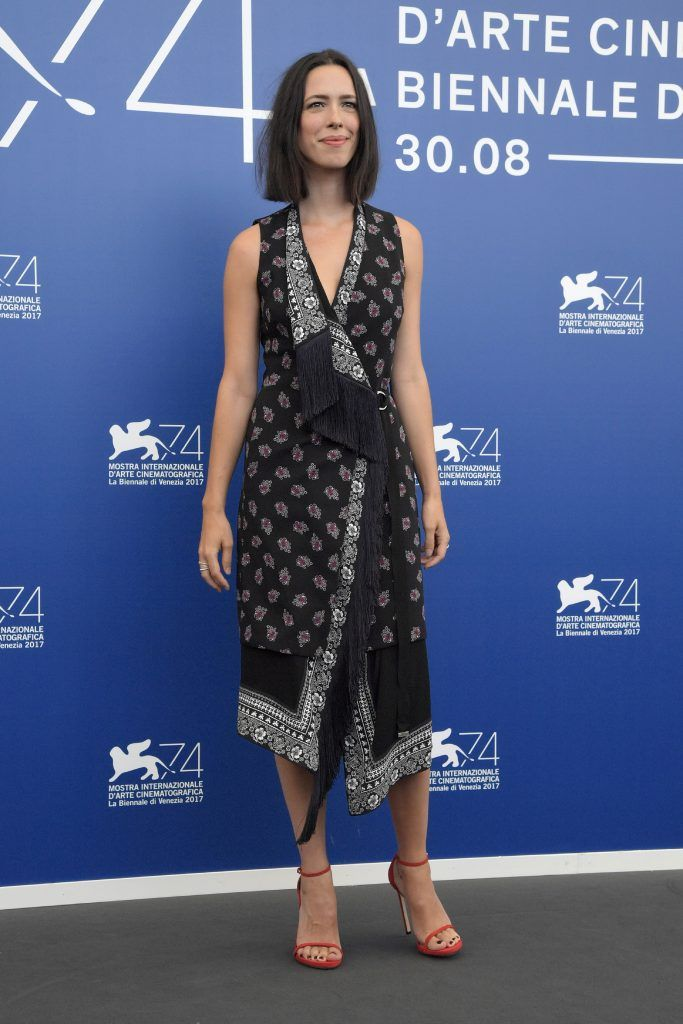 Actress Rebecca Hall attends a photocall of the jury of the 74th Venice Film Festival on August 30, 2017 at Venice Lido. (Photo by TIZIANA FABI/AFP/Getty Images)