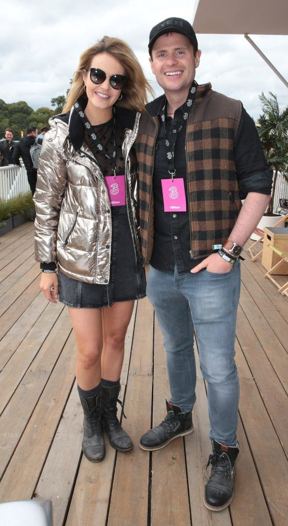 Aoibhin Garrihy and her husband John Burke at the #3Disco area at the sold-out three-day festival Electric Picnic at Stradbally, Co. Laois. Picture: Brian McEvoy