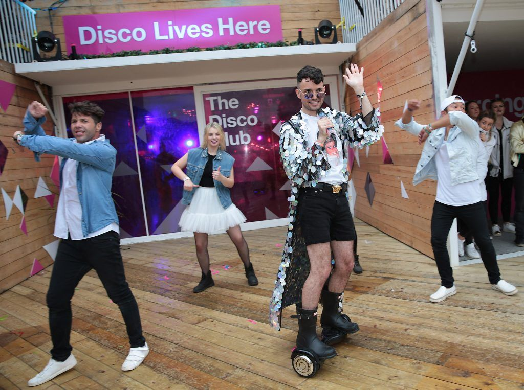 Internet sensation James Kavanagh as he took part in the Ultimate #3disco Lip-sync Showdown at the #3Disco area at the sold-out three-day festival Electric Picnic at Stradbally, Co. Laois. Picture: Brian McEvoy
