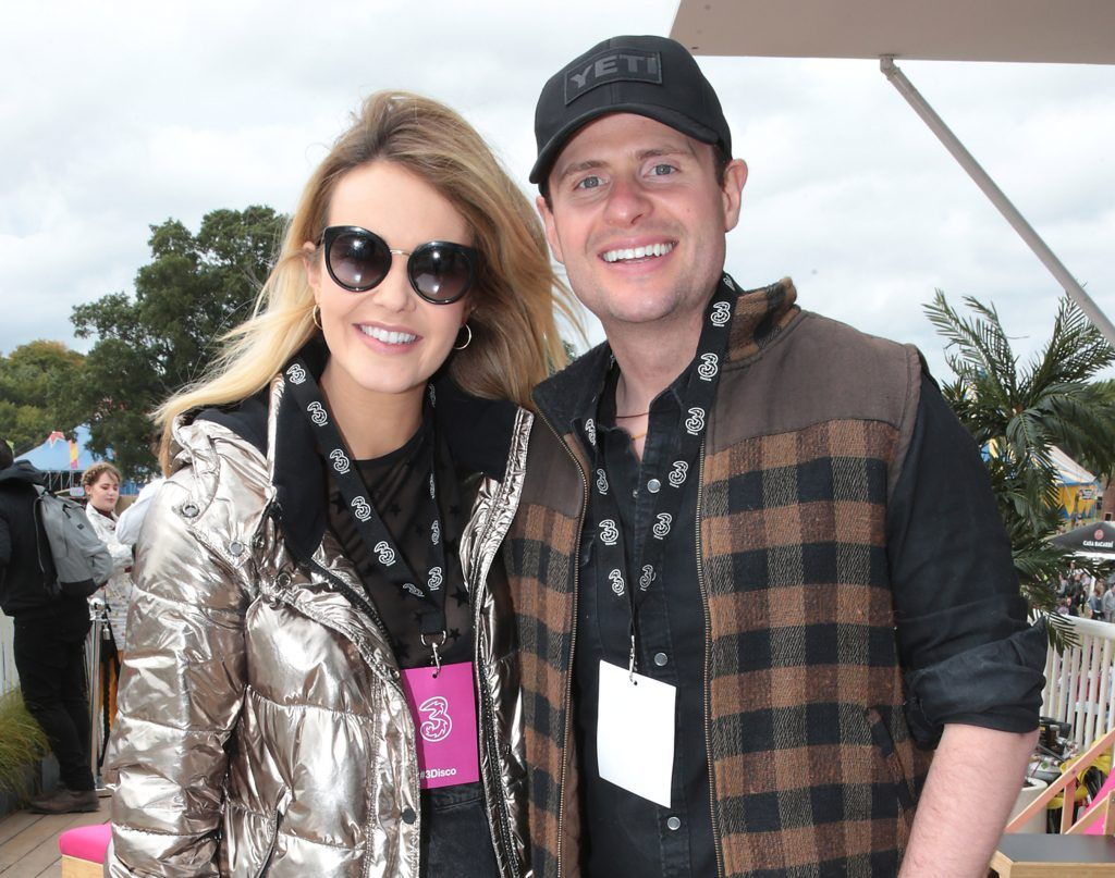 Aoibhin Garrihy and John Burke at the #3Disco area at the sold-out three-day festival Electric Picnic at Stradbally, Co. Laois. Picture: Brian McEvoy