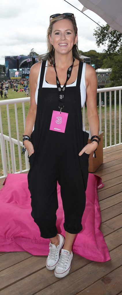 Xposé presenter Cassie Stokes at the #3Disco area at the sold-out three-day festival Electric Picnic at Stradbally, Co. Laois. Picture: Brian McEvoy