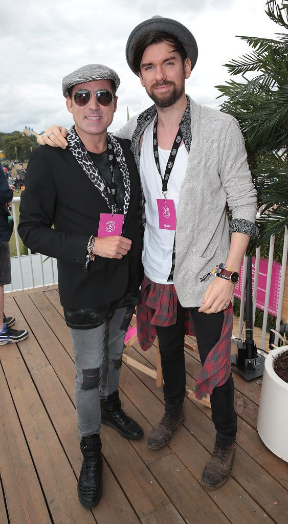 Julian Benson and Eoghan McDermott at the #3Disco area at the sold-out three-day festival Electric Picnic at Stradbally, Co. Laois. Picture: Brian McEvoy