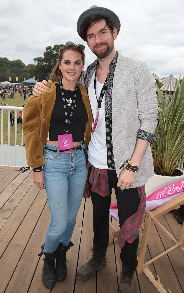 Corrina Durran and Eoghan McDermott at the #3Disco area at the sold-out three-day festival Electric Picnic at Stradbally, Co. Laois. Picture: Brian McEvoy