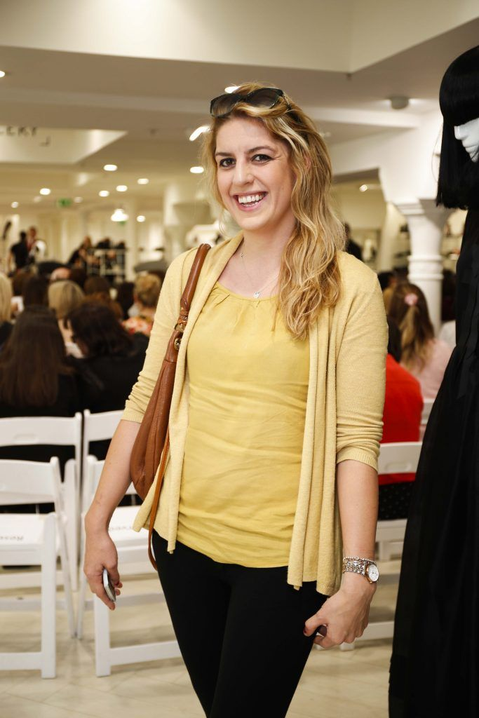 Gillan Blake at the Pippa O'Connor 'Step into Style' event in the newly opened Arnotts Shoe Gallery. Picture: Conor McCabe Photography.