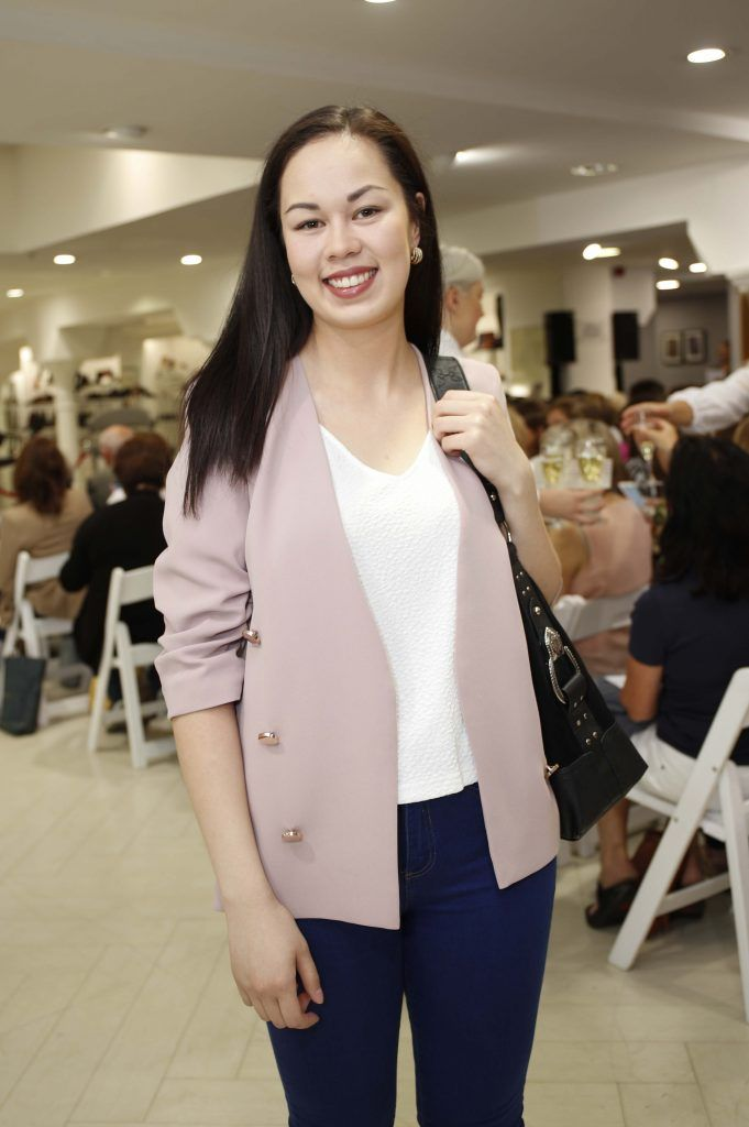 Shannon Lok at the Pippa O'Connor 'Step into Style' event in the newly opened Arnotts Shoe Gallery. Picture: Conor McCabe Photography.