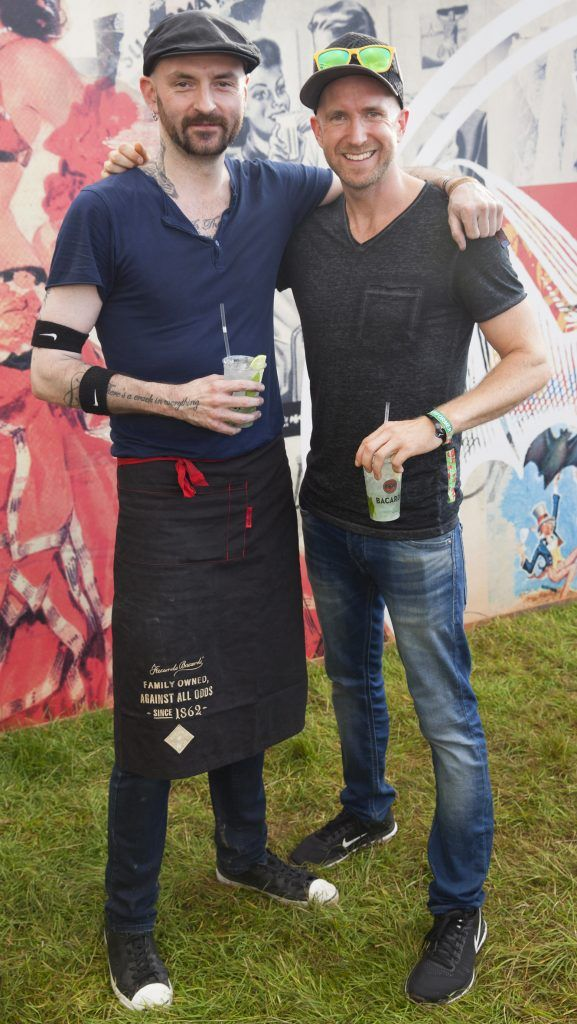 Pictured are Barry Jazz Finnegan and Adam Mills enjoying Stradbally's ultimate party at Casa Bacardi 2017. Bacardi rum returned to a sold out Electric Picnic, boasting a stellar line-up of international DJ's as well as top home grown Irish talent. Picture: Kinlan Photography.