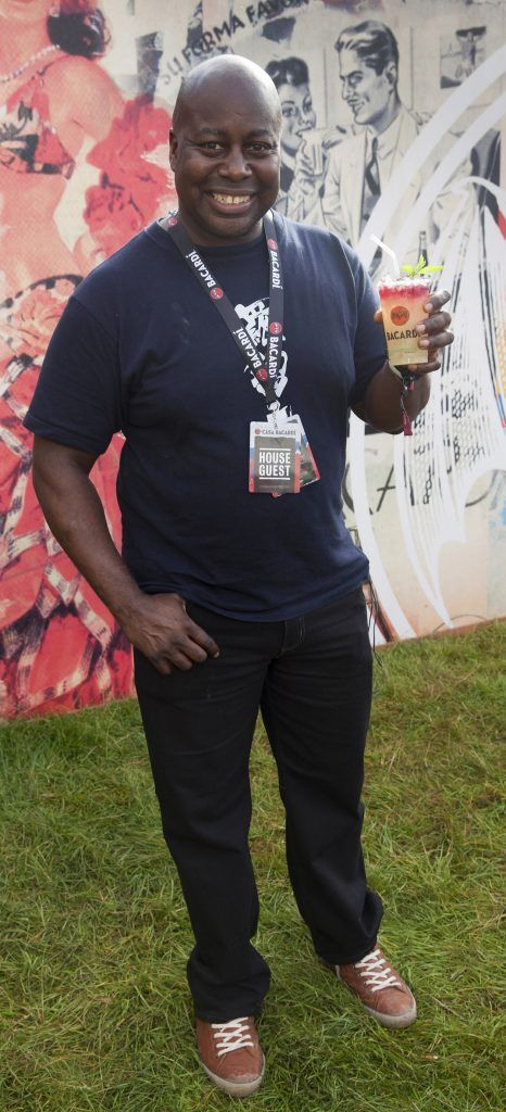 Pictured is Chic's Ralph Rolle enjoying Stradbally's ultimate party at Casa Bacardi 2017. Bacardi rum returned to a sold out Electric Picnic, boasting a stellar line-up of international DJ's as well as top home grown Irish talent. Picture: Kinlan Photography.