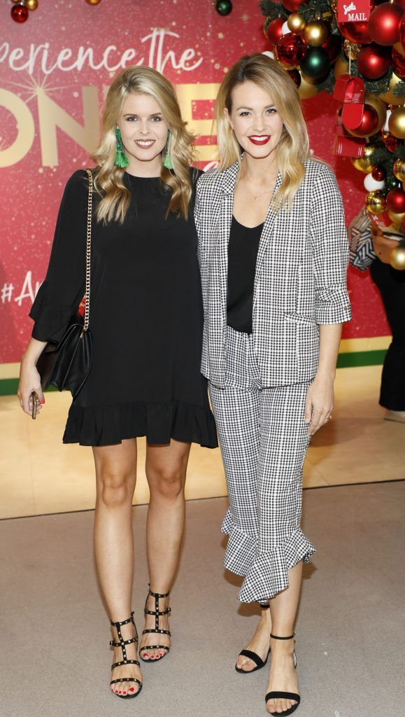 Ailbhe and Aoibhin Garrihy  pictured at the Arnotts Christmas Gifts Preview. Photo by Kieran Harnett