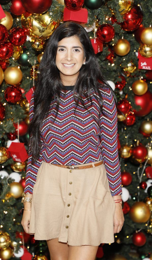 Gabriella Carrillo  pictured at the Arnotts Christmas Gifts Preview. Photo by Kieran Harnett
