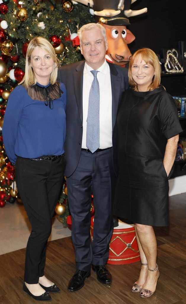 Audrey Owens, Donald McDonald and Valerie O'Neill  pictured at the Arnotts Christmas Gifts Preview. Photo by Kieran Harnett