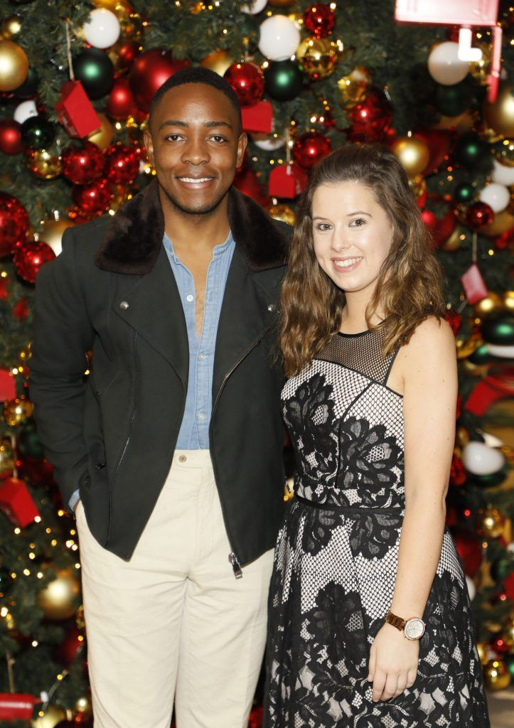 Lawson Mpame and Rebecca Myles  pictured at the Arnotts Christmas Gifts Preview. Photo by Kieran Harnett
