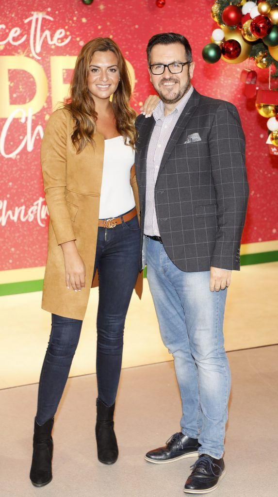Lisa Nolan and Clyde Carroll  pictured at the Arnotts Christmas Gifts Preview. Photo by Kieran Harnett