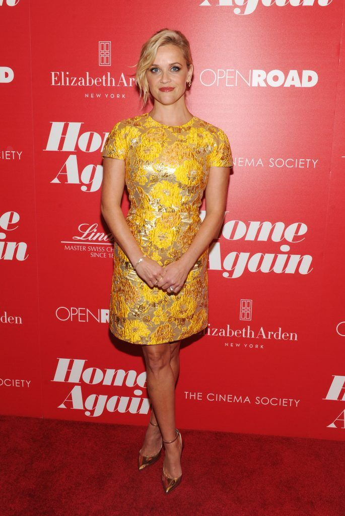"Reese Witherspoon attends a screening of Open Road Films' ""Home Again"" hosted by The Cinema Society & Lindt Chocolate on September 6, 2017 in New York City.  (Photo by Craig Barritt/Getty Images for Lindt)"