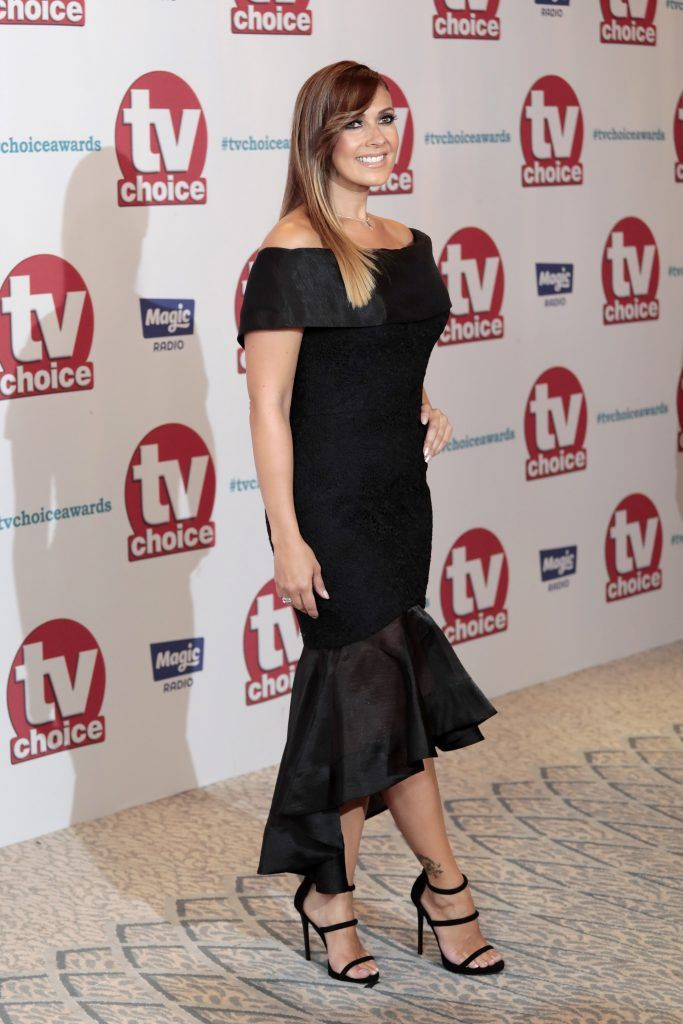 Kym Marsh arrives for the TV Choice Awards at The Dorchester on September 4, 2017 in London, England.  (Photo by John Phillips/Getty Images)