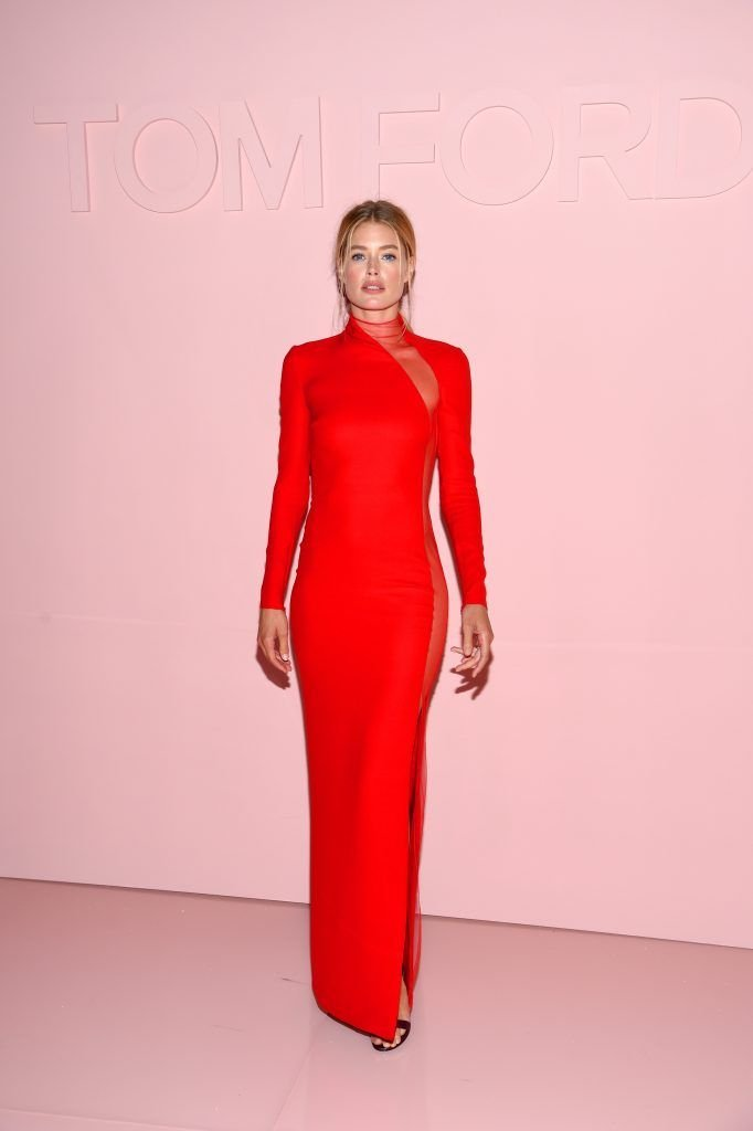 Doutzen Kroes ttends the Tom Ford Spring/Summer 2018 Runway Show at Park Avenue Armory on September 6, 2017 in New York City.  (Photo by Dimitrios Kambouris/Getty Images for Tom Ford)