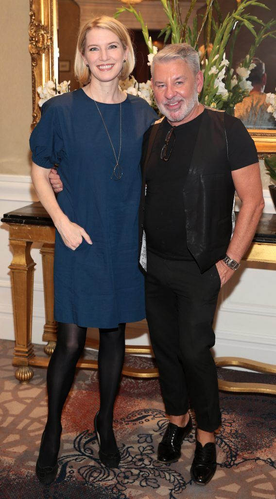 Pamela Flood and Michael Doyle at the Shiseido International Charity Lunch and Fashion Show in aid of the Rape Crisis Centre hosted by catwalk queen Miss Candy at the Westin Hotel, Dublin. Picture by Brian McEvoy