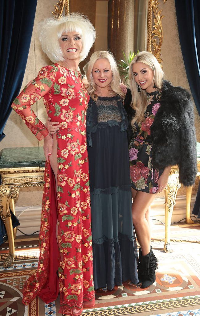 Miss Candy, Amanda Brunker and Rosanna Davison at the Shiseido International Charity Lunch and Fashion Show in aid of the Rape Crisis Centre hosted by catwalk queen Miss Candy at the Westin Hotel, Dublin. Picture by Brian McEvoy