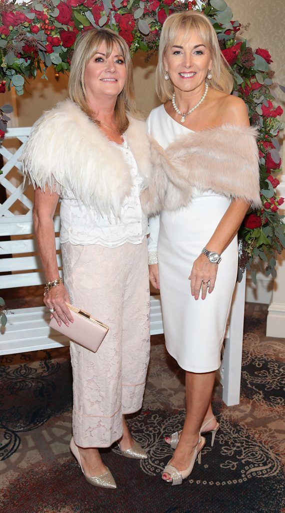 Susan McLaverty and Kay Hutton at the Shiseido International Charity Lunch and Fashion Show in aid of the Rape Crisis Centre hosted by catwalk queen Miss Candy at the Westin Hotel, Dublin. Picture by Brian McEvoy