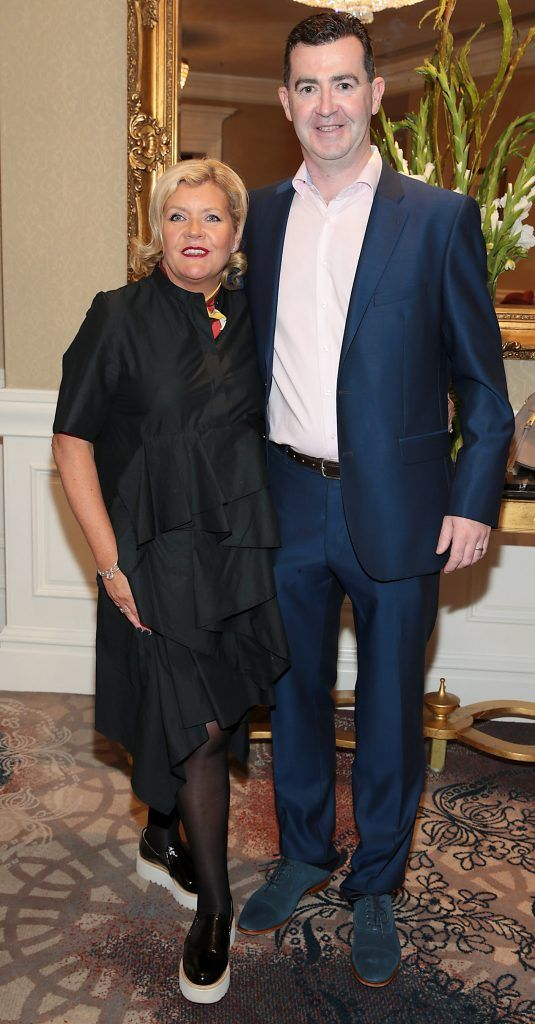 Rachel Supple and Declan Morrisey at the Shiseido International Charity Lunch and Fashion Show in aid of the Rape Crisis Centre hosted by catwalk queen Miss Candy at the Westin Hotel, Dublin. Picture by Brian McEvoy