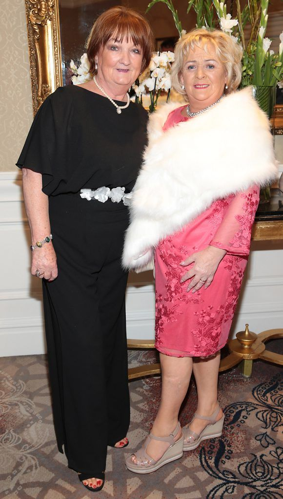 Hannah Finnegan and Maisie Costelloe at the Shiseido International Charity Lunch and Fashion Show in aid of the Rape Crisis Centre hosted by catwalk queen Miss Candy at the Westin Hotel, Dublin. Picture by Brian McEvoy