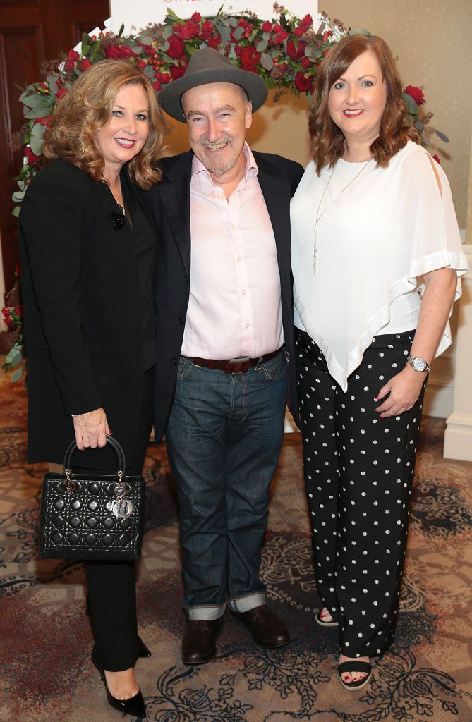 Mairead Egan, Dermott Hayes and Lesa McCann at the Shiseido International Charity Lunch and Fashion Show in aid of the Rape Crisis Centre hosted by catwalk queen Miss Candy at the Westin Hotel, Dublin. Picture by Brian McEvoy