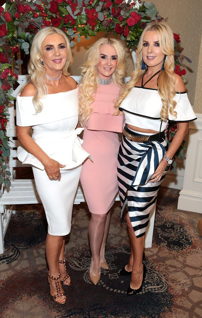 Joan Palmer, Aisling Holly and Roz Flanagan at the Shiseido International Charity Lunch and Fashion Show in aid of the Rape Crisis Centre hosted by catwalk queen Miss Candy at the Westin Hotel, Dublin. Picture by Brian McEvoy