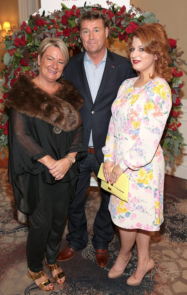 Fiona McAndrew, Kevin McCrudden and Sabina Moylan at the Shiseido International Charity Lunch and Fashion Show in aid of the Rape Crisis Centre hosted by catwalk queen Miss Candy at the Westin Hotel, Dublin. Picture by Brian McEvoy