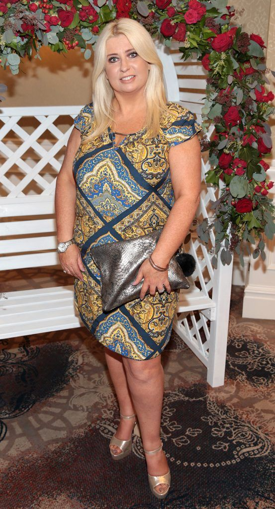 Sharon Hennessey at the Shiseido International Charity Lunch and Fashion Show in aid of the Rape Crisis Centre hosted by catwalk queen Miss Candy at the Westin Hotel, Dublin. Picture by Brian McEvoy