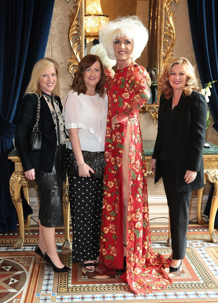 Grace Terrinoni Lesa McCann, Miss Candy and Mairead Egan at the Shiseido International Charity Lunch and Fashion Show in aid of the Rape Crisis Centre hosted by catwalk queen Miss Candy at the Westin Hotel, Dublin. Picture by Brian McEvoy