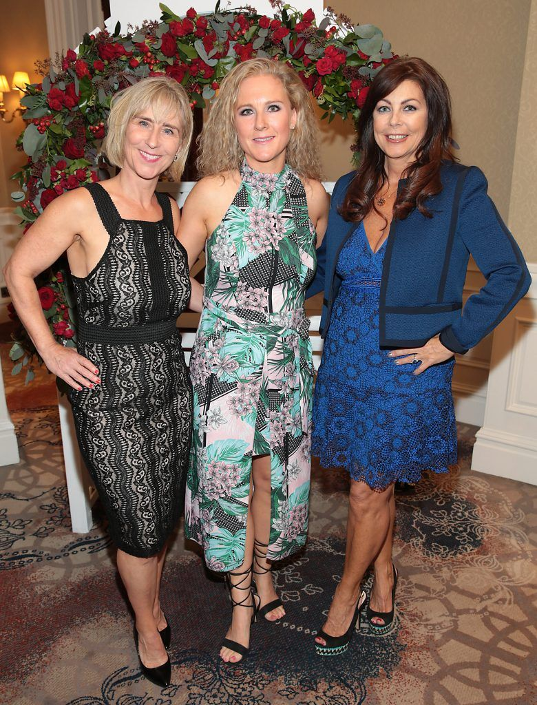 Linda Glennon, Rachel Glennon and Pauline Hanrahan at the Shiseido International Charity Lunch and Fashion Show in aid of the Rape Crisis Centre hosted by catwalk queen Miss Candy at the Westin Hotel, Dublin. Picture by Brian McEvoy