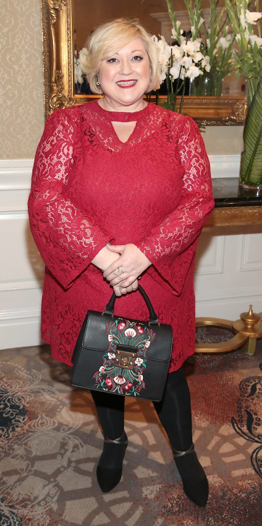 Carmel Breheny at the Shiseido International Charity Lunch and Fashion Show in aid of the Rape Crisis Centre hosted by catwalk queen Miss Candy at the Westin Hotel, Dublin. Picture by Brian McEvoy