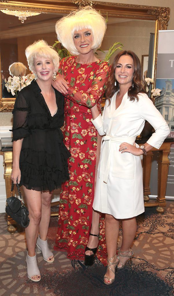 Aisling O Loughlin, Miss Candy and Lorraine Keane at the Shiseido International Charity Lunch and Fashion Show in aid of the Rape Crisis Centre hosted by catwalk queen Miss Candy at the Westin Hotel, Dublin. Picture by Brian McEvoy